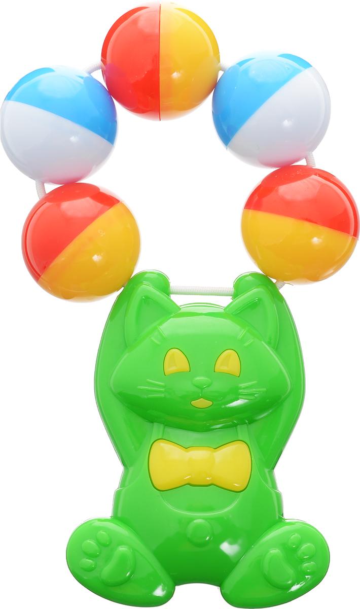 Stellar Погремушка Кошка цвет зеленый