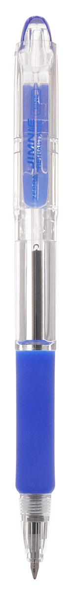 Zebra Ручка шариковая Jimnie Retractable 0,7 мм цвет синий305 113021Автоматическая шариковая ручка Zebra Jimnie Retractable станет незаменимыми атрибутом учебы или работы. Это автоматический вариант шариковой ручки серии Jimnie. Тщательно продуманный эргономичный дизайн, каучуковая подушка для пальцев, пишущий шарик нового поколения, большой пластиковый зажим - ко всем этим достоинствам ручки Jimnie Classic добавляется удобство и функциональность автоматической ручки.Надежная ручка строгого классического дизайна станет верным помощником для студента и офисного работника.