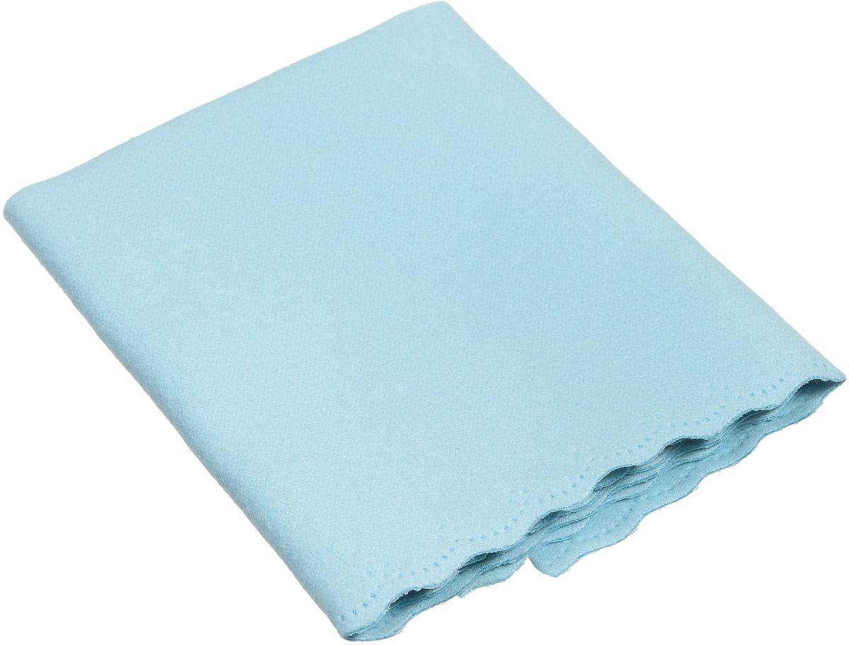Proffi Home Салфетка для очков из микрофибры, цвет: голубой