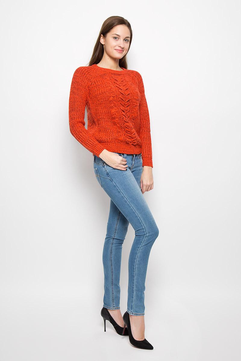 Джемпер женский Vero Moda, цвет: морковный. 10157980. Размер L (46) джемпер женский vero moda цвет молочный 10189425 pristine размер m 44