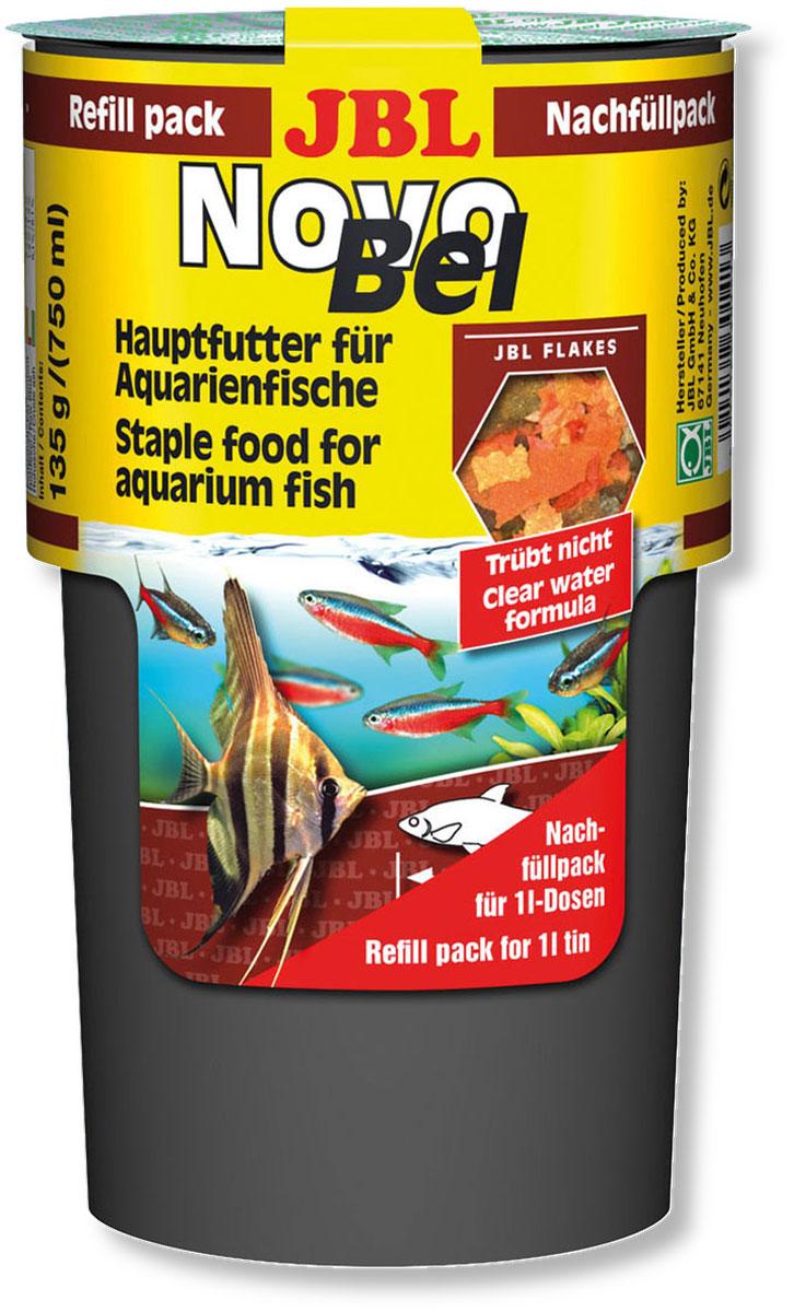 Корм JBL NovoBel Refill для всех аквариумных рыб, в форме хлопьев, 135 г (750 мл) jbl flip 3 ремонт в москве