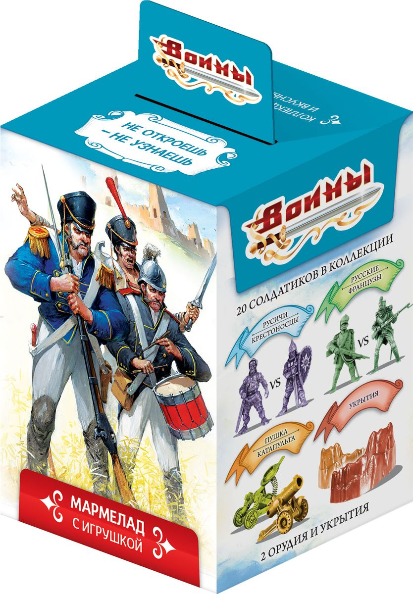Sweet Box Воины жевательный мармелад с игрушкой, 10 г жевательный табак купить в кирове