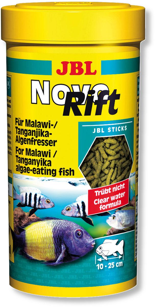 Корм JBL NovoRift для восточноафриканских цихлид, в форме палочек, 250 мл (133 г)JBL3029300Корм JBL NovoRift содержит преимущественно отборные растительные вещества, объединенные в специальной комбинации, которая соответствует питательным потребностям цихлид из восточноафриканских озер. Корм особенно охотно поедается рыбами благодаря своей форме в виде маленьких палочек. Ценные витамины, ненасыщенные жирные кислоты и каротиноиды укрепляет иммунитет, способствует росту и более яркой окраске. Идеальный размер корма для рыб от 10 до 25 см.- Содержит 90% растительного и 10% животногобелка;- Соответствует естественным потребностям таких рыб, как трофеусы, псевдотрофеусы;- Высокое содержание водоросли спирулина, богатой белком; - Содержит натуральный витамин Е в качестве антиоксиданта. Рекомендации по кормлению: корм может даваться несколько раз ежедневно, однако небольшими порциями, которые могут съедаться в течение нескольких минут. Состав: овощи, зерновые, водоросли, дрожжи, рачки, минералы. Белок 31%, жир 3%, клетчатка 5,5%, зола 11%. Содержание витаминов на 1000 г: витамин А 25000 i.E., витамин D3 2000 i.E., витамин Е 300 мг., витамин С 200 мг. Вес: 133 г. Товар сертифицирован.
