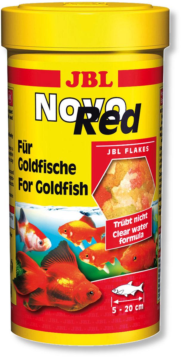 Основной_корм_JBL_~NovoRed~_в_форме_хлопьев_для_золотых_рыб._Корм_JBL_NovoRed_содержит_все_компоненты,_отвечающие_питательным_потребностям_золотых_рыб,_объединенные_в_сбалансированной_смеси_с_высоким_содержанием_растительных_элементов:_зерновые,_рыба_и_рыбные_продукты,_рачки,_дрожжи,_растительные_продукты,_а_также_водоросли._Легко_усваиваемые_хлопья_средней_величины_являются_излюбленным_лакомством_всех_золотых_рыб._Жизненно_важные_растительные_ингредиенты,_стабилизированный_витамин_С_и_другие_витамины,_а_также_биоэлемент_Инозит_обеспечивают_здоровый_рост_и_укрепляют_иммунитет._Корм_можно_давать_несколько_раз_в_день_ежедневно,_небольшими_порциями,_которые_съедаются_в_течение_нескольких_минут._Идеальный_размер_корма_для_рыб_от_5_до_20_см.-_Низкое_содержание_белка__соответствует_питательным_потребностям_таких_холодноводных_рыб,_как_золотые_рыбы.-_Корм_содержит_сбалансированную_смесь_из_более_чем_50_компонентов.-_7_различных_сортов_хлопьев.-_Мало_фосфатов_и_много_минеральных_веществ._-_18%25_растительного_белка_в_корме_соответствуют_питательным_потребностям_золотых_рыб.__Состав:_белок_32%25,_жир_2,8%25,_клетчатка_3%25,_зола_10%25._Содержание_витаминов_на_1000_г:_Витамин_А_25000_i.E.,_Витамин_D3_1200_i.E.,_Витамин_Е_200_мг.,_Витамин_С_(стаб)_500_мг.,_инозит_350_мг._Вес:_45_г.Товар_сертифицирован.