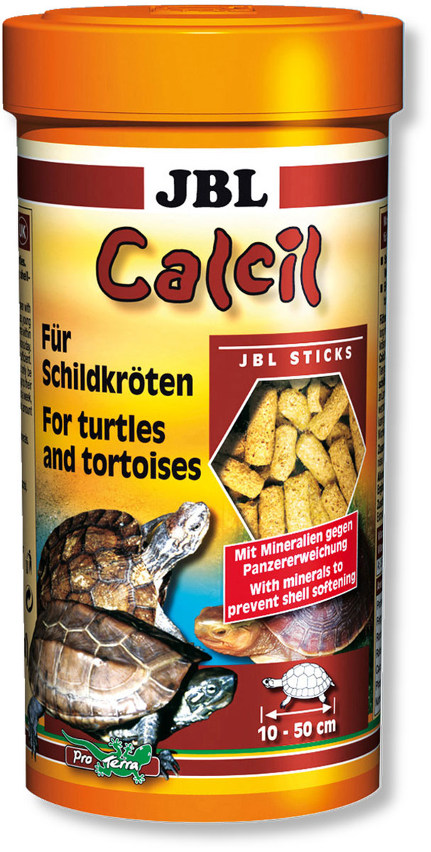 Корм JBL Calcil для черепах, в форме палочек, 250 мл (100 г) островок для водных черепах киев