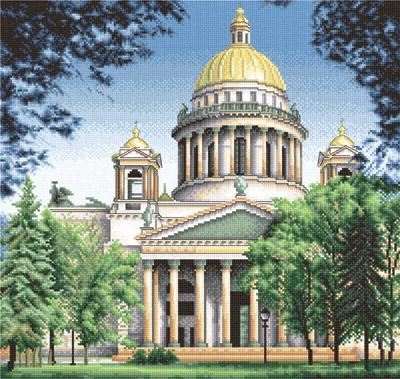 """Набор для вышивания крестом Panna """"Исаакиевский собор"""", 34 x 36 см"""