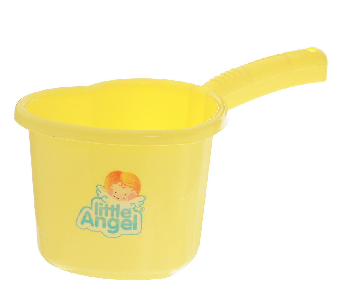 Little Angel Ковшик для детской ванночки цвет желтый -  Все для купания