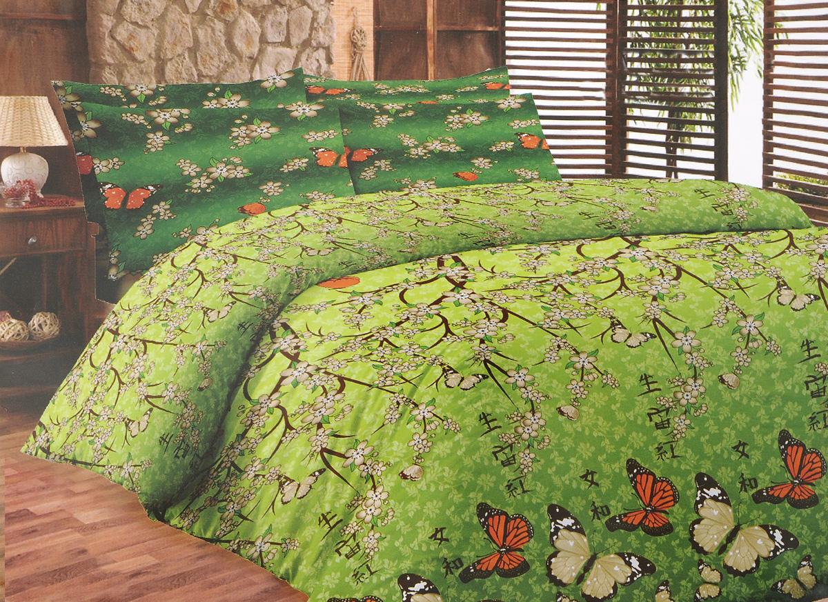 Комплект белья Liya Home Collection Ветка сакуры, 2-спальный с евро простыней, наволочки 70x70120001553Комплект белья Liya Home Collection Ветка сакуры состоит изпододеяльника, простыни и двух наволочек. Изделиявыполнены из хлопка (70%) и полиэстера (30%).Хлопок является классическим примером гигроскопичности,гигиеничности, натуральности и простоты. Сочетание его сполиэстером лишает ткань присущих хлопку недостатков.Изделия из хлопка с полиэстером не выгорают, нерастягиваются, дольше используются. Постельное белье изхлопка с полиэстером имеет двукратную продолжительностьэксплуатации, по сравнению с чистым хлопком, оно не мнется исохнет очень быстро.