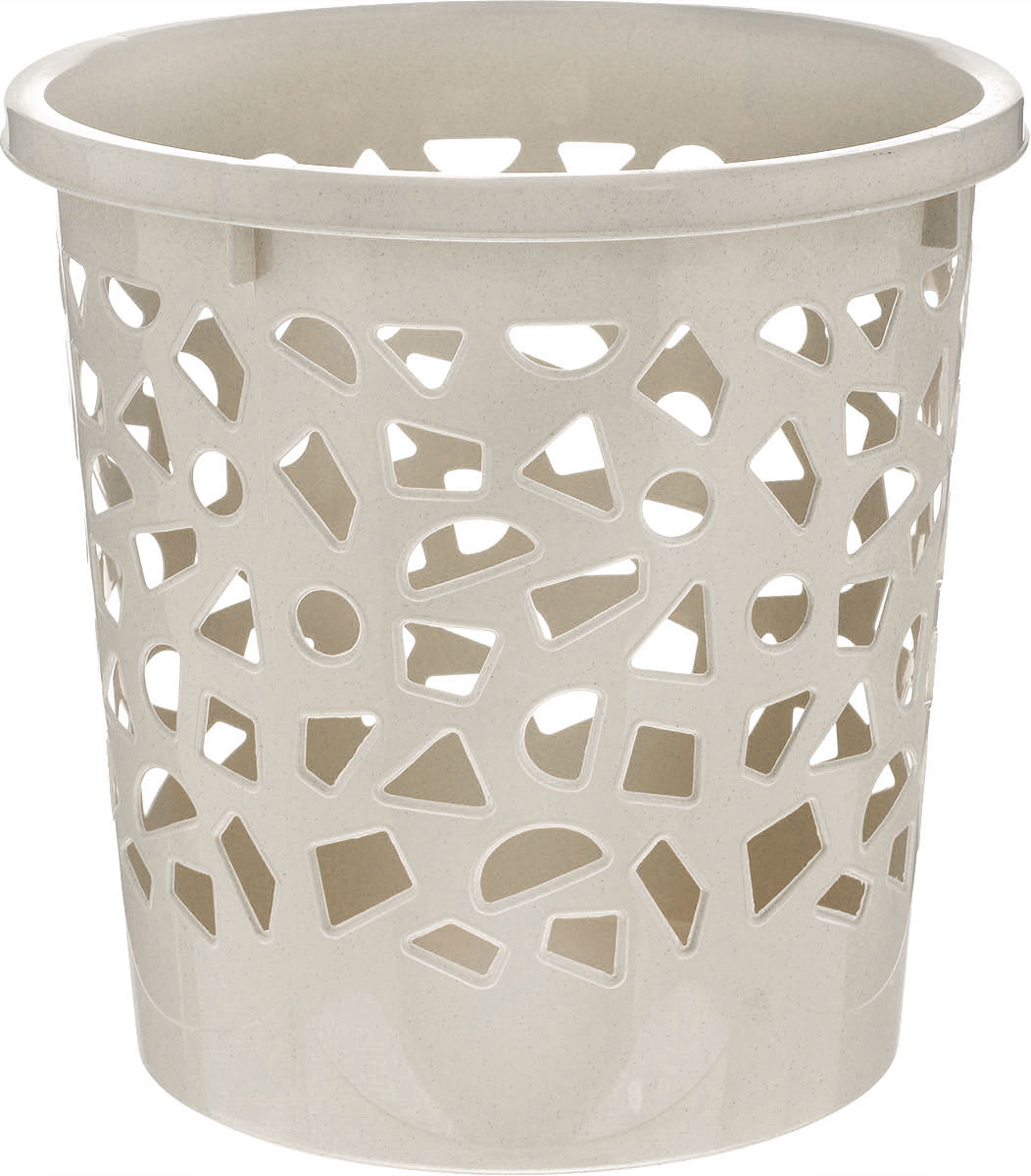 Корзина для мусора Бытпласт, цвет: серо-бежевый, высота 26 см корзина для мусора бытпласт цвет серо бежевый высота 26 см