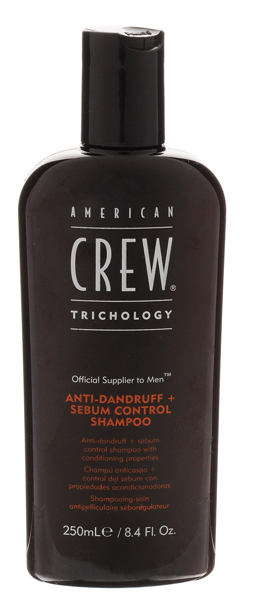 American Crew Шампунь против перхоти Classic Anti-Dandruff 250 мл7207887000Шампунь против перхоти обеспечивает прекрасный уход за сухой кожей головы. Данный шампунь от компании Американ Крю подходит как для нормальных, так и для сухих, ломких и повреждённых волос с перхотью. Благодаря шампуню American Crew волосы приобретают эластичность, мягкость и здоровый вид и блеск, а такой активный ингредиент, входящий в состав средства, как цинк, отлично препятствует шелушению и зуду кожи головы, в результате чего устраняется проблема перхоти. Шампунь Американ Crew Anti-Dandruff восстанавливает и укрепляет волосы, охлаждает и освежает кожу головы, подходит для частого применения.отличное и надёжное средство для избавления от перхоти. Состав: ментол, масло мяты кучерявой, лимонная кислота, цинк пиритион 0,5%.