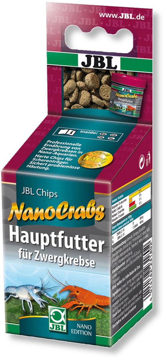 Корм JBL NanoCrabs для карликовых раков в нано-аквариумах, в форме мини-чипсов, 60 мл (30 г) jbl novocrabs корм для панцирных ракообразных 100 мл 45 г