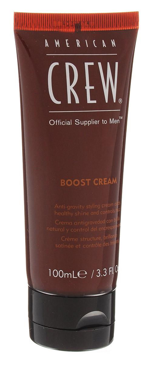 American Crew Уплотняющий крем для придания объема Classic Boost Cream 100 мл7209495000American Crew Classic Boost Cream Уплотняющий крем для придания объема подчёркивает естественную красоту волос, придаёт им великолепный объём и впечатляющий блеск. Отлично подходит для стайлинга сухих волос. Данное средство имеет удобную кремообразную структуру, поэтому легко и быстро наносится на волосы, абсолютно не утяжеляя их. Антигравитационный крем от компании Американ Крю Boost Cream обладает прекрасными увлажняющими свойствами, обеспечивает правильное питание волос и устраняет их сухость. Средство отлично подходит и для ухода за кучерявыми волосами. Особенности:уплотняет волосы и придаёт им эффектный объём и блеск, увлажняет и питает волосы.