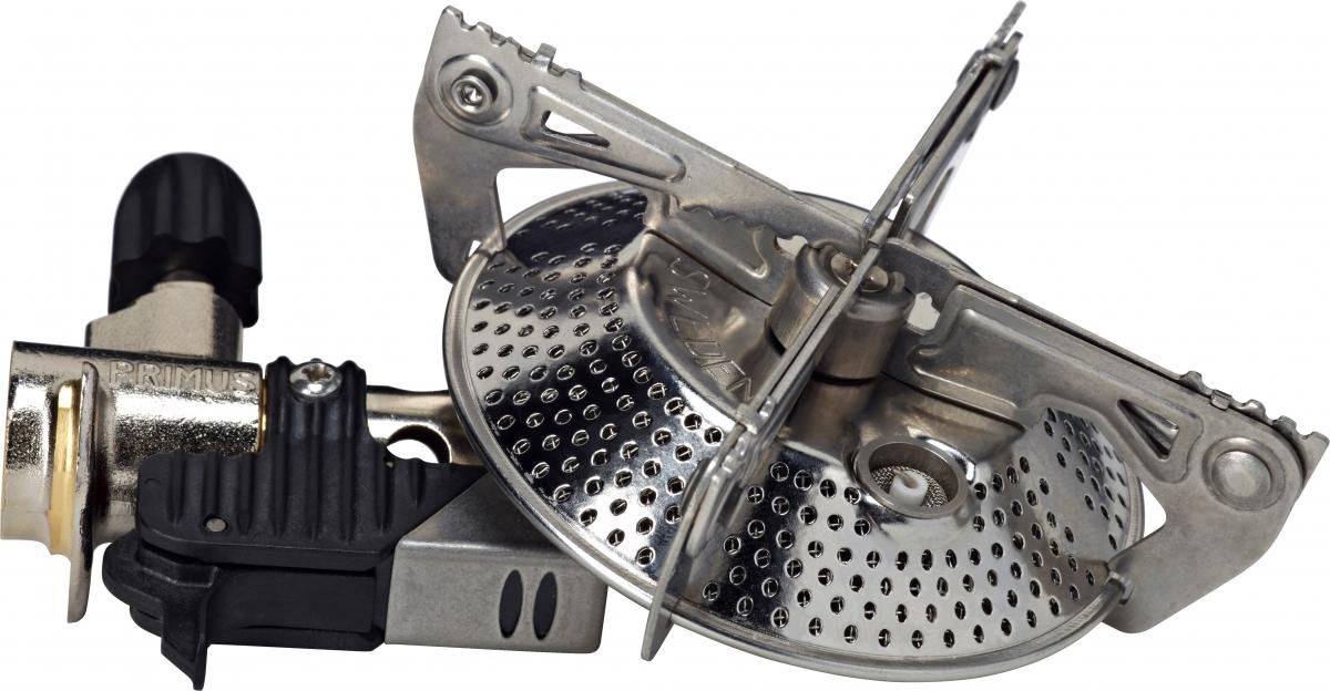 Горелка газовая Primus Power Cook, цвет: серый324412Мощная газовая горелка Primus Power Cook с пьезоподжигом устанавливается непосредственно на газовый баллон. Для более удобной транспортировки горелка компактно складывается. Благодаря конструкции удобно использовать большие кастрюли и сковородки.Рассчитана на трехсезонное использование.Газовый баллон в комплект не входит.Время горения: 45 мин. на 230 гр. газа. Время закипания 1 литра воды: 2 - 3 мин. Оптимально для: 1-2 человек.Вес: 171 гр.