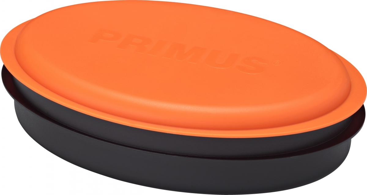 Набор посуды Primus Meal Set, цвет: оранжевый737853Набор посуды Primus Meal Set включает в себя все необходимое: 2 контейнера для еды, баночка для специй, баночка для жидкостей, разделочная доска, сочетающая в себе дуршлаг, терку и нож, складная ложка-вилка. Этот набор необходим каждому, кто собирается в поход, небольшой отдых за городом или пикник в парке.