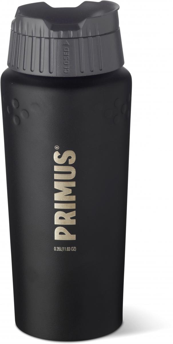 Термокружка Primus TrailBreak Vacuum Mug, цвет: черный, 350 мл737902Вакуумная термокружка Primus изготовлена из прочной нержавеющей стали. Слегка расширяющаяся форма служит для хорошего и удобного захвата. ClickClose пробка поможет не обжечься горячим напитком.Объем кружки: 350 мл.