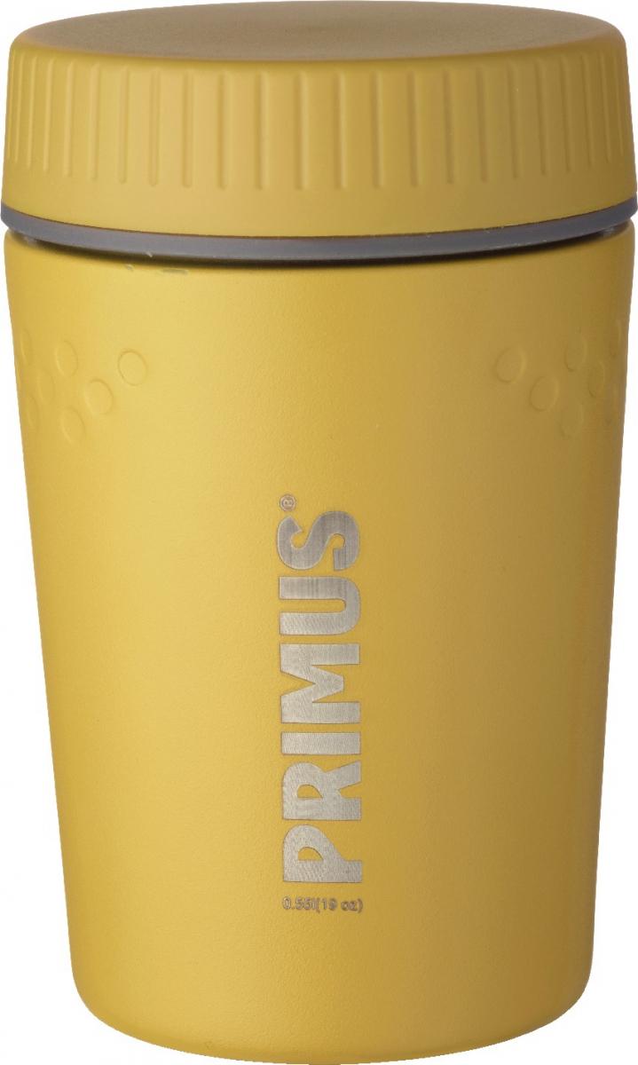 Термос Primus TrailBreak Lunch Jug, цвет: желтый, 550 мл737946Термос изготовлен из нержавеющей стали. Двойные стенки с вакуумом между ними помогают надолго сохранить изначальную температуру продуктов. Крышка - 100% герметична, поэтому термос можно не опасаясь носить в сумке или рюкзаке. Благодаря новой конусообразной форме термос стало еще легче и удобнее убирать в наполненный вещами рюкзак.Объем термоса: 550 мл.