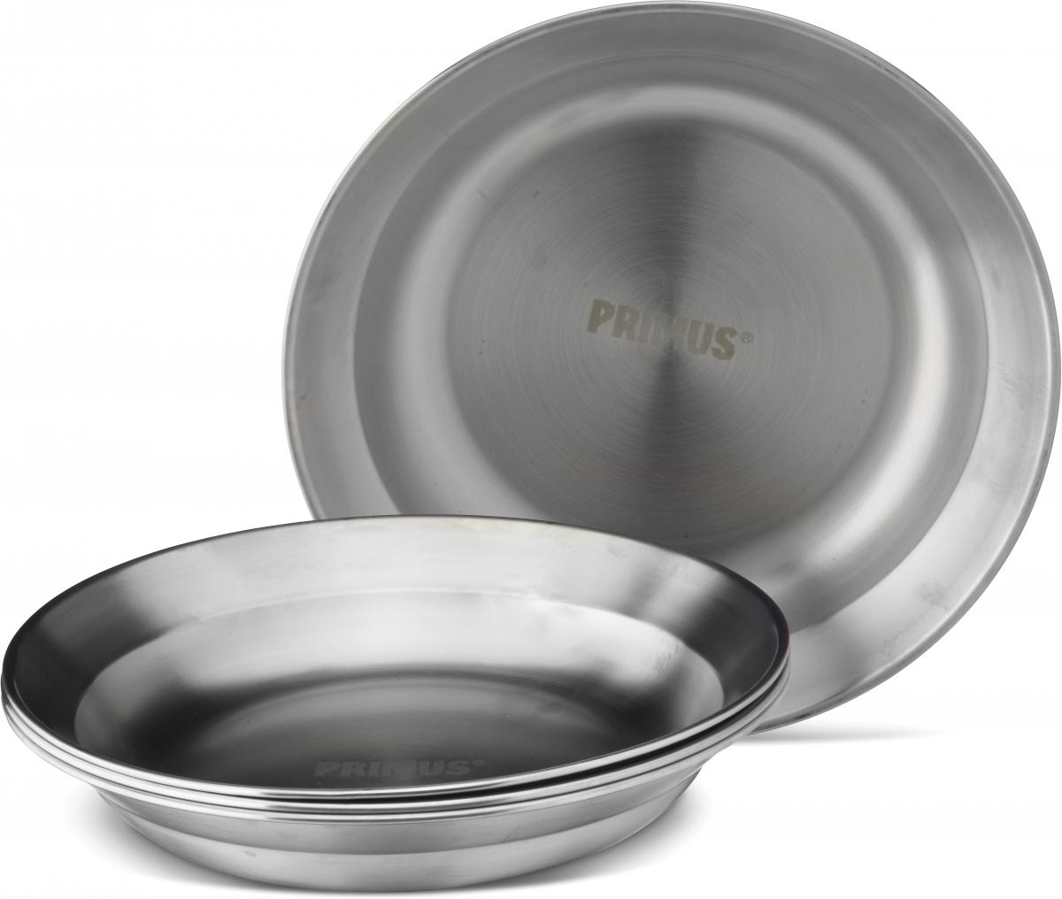 Тарелка Primus CampFire Plate S/S, диаметр 21 см738011Прочная и долговечная тарелка выполнена из нержавеющей стали. Благодаря широким бортикам, тарелку удобно держать во время еды.Диаметр тарелки: 21 см.
