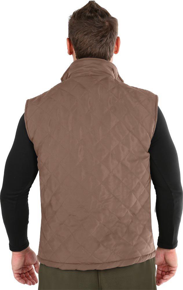 Жилет для охоты HunterMan Nova Tour Варм, цвет: коричневый. 95121-229. Размер XS (48)