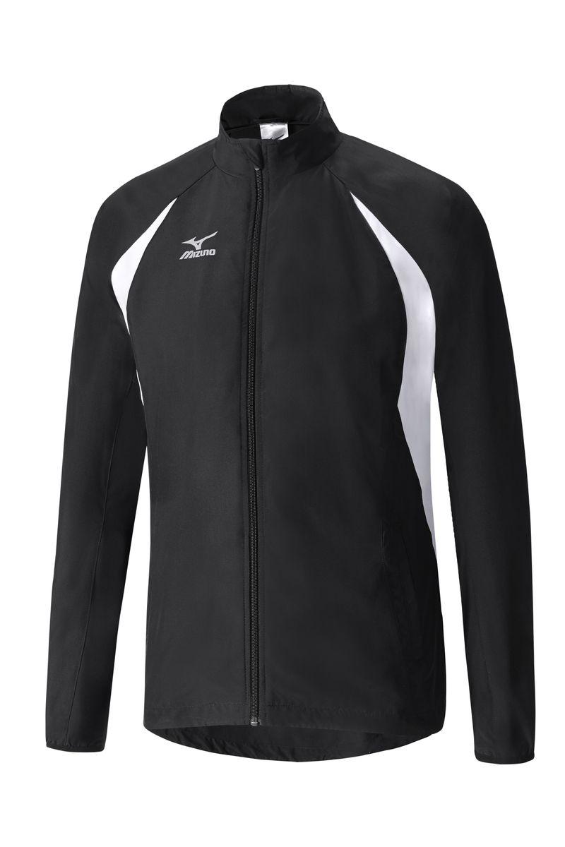 Куртка мужская Mizuno Light weight Jacket, цвет: черный. 52WS251-09. Размер XL (52)52WS251-09мВлаго- и ветрозащищенная куртка выполнена из высококачественного материала. Модель застегивается на молнию. Контрастные цветные вставки.