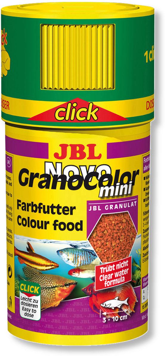 Корм JBL NovoGranoColor mini для естественного усиления цвета маленьких рыб, в форме мини-гранул, 100 мл (43 г)JBL3009800Корм JBL NovoGranoColor mini содержит высокоценное природное сырье, каротиноилды и ненасыщенные жирные кислоты, которые естественным путем способствуют улучшению цветовой окраски всех аквариумных рыб. Корм изготовлен по щадящей технологии с использованием кратковременного высокотемпературного нагревания и содержит большое количество питательных элементов. Часть гранул медленно погружается под воду, а часть некоторое время плавает на поверхности. Это дает возможность кормить рыб, находящихся в различных зонах аквариума. Крышка с мини-дозатором может быть просто навинчена на банку. Идеальный размер корма для рыб от 3 до 10 см.Рекомендации по кормлению: два или три раза в день порциями, которые могут быть съедены рыбами в течение нескольких минут.Состав: моллюски и ракообразные 24,88%, злаки 23,43%, рыба и рыбные побочные продукты 19,51%, растительные побочные продукты 12,47%, овощи 10,25%, экстракты растительного белка 5,86%, масла и жиры 1,95%. Вес: 43 г. Товар сертифицирован.