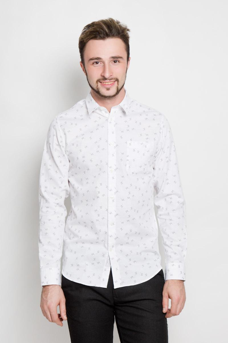Рубашка мужская Selected Homme, цвет: молочный. 16052143. Размер XL (50) цена 2017