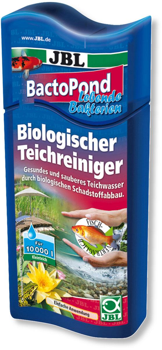Средство JBL BactoPond, для биологической очистки прудовой воды, 500 мл на 10000 л водыJBL2732700Средство JBL BactoPond очищает воду в пруду благодаря биологическому расщеплению вредных веществ. Живые бактерии устраняют белок, аммоний/аммиак и нитрит. Помогает сохранить численность рыб. Сокращает рост водорослей благодаря устранению избыточных питательных веществ. Бутылка и крышка оснащены мерными делениями.Применение: 40 мл на 700–800 л прудовой воды.