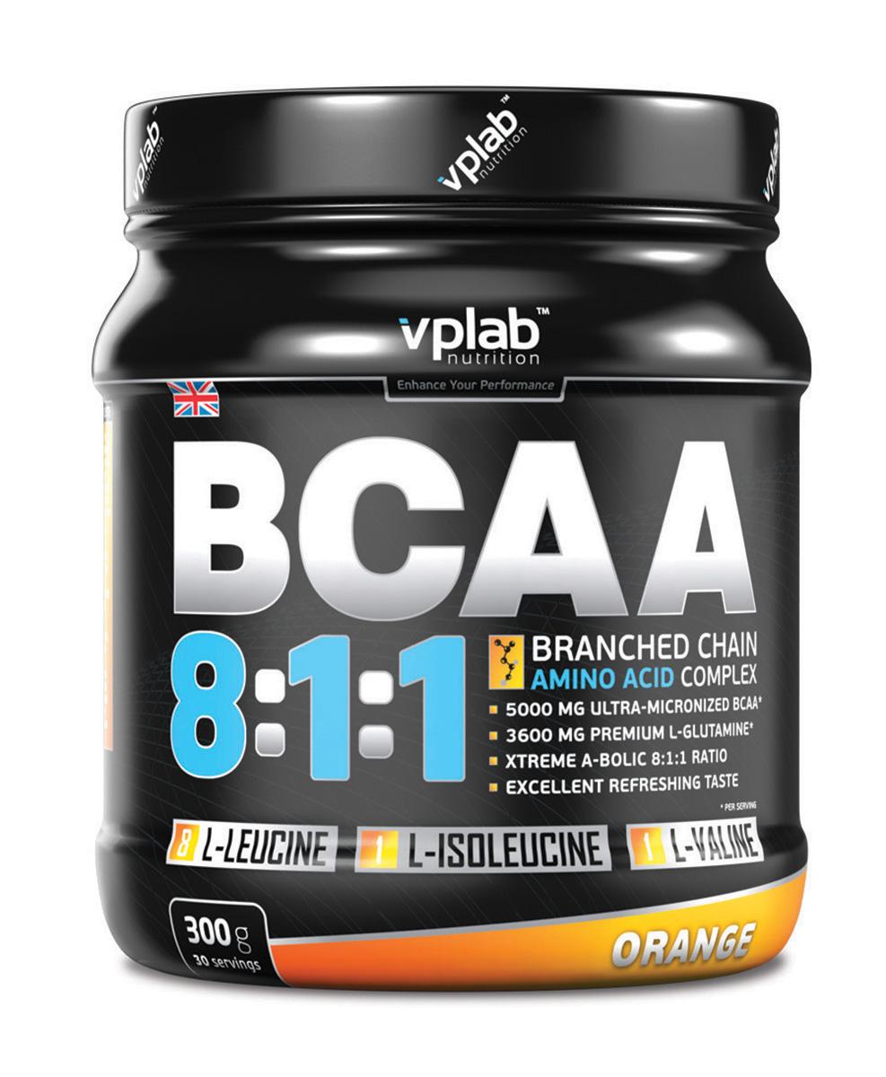 Аминокислоты VPLab BCAA 8:1:1, 300 г аминокислотный комплекс vplab bcaa 2 1 1 красный апельсин 500 г