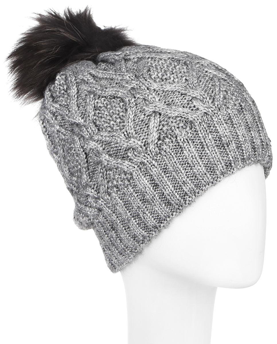 Шапка женская Dispacci, цвет: серый. 21105F. Размер универсальный шапки mialt шапка