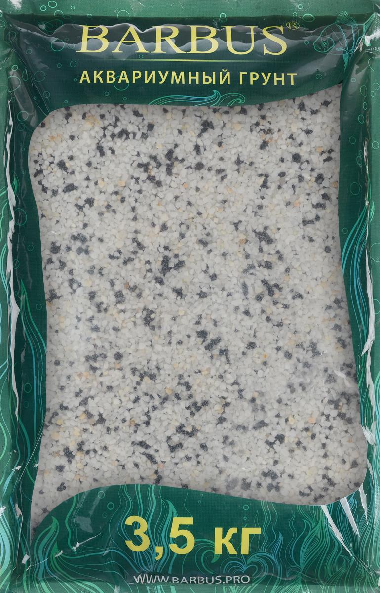 Грунт для аквариума Barbus Микс натуральный цвет черный белый 2-5 мм 35 кг