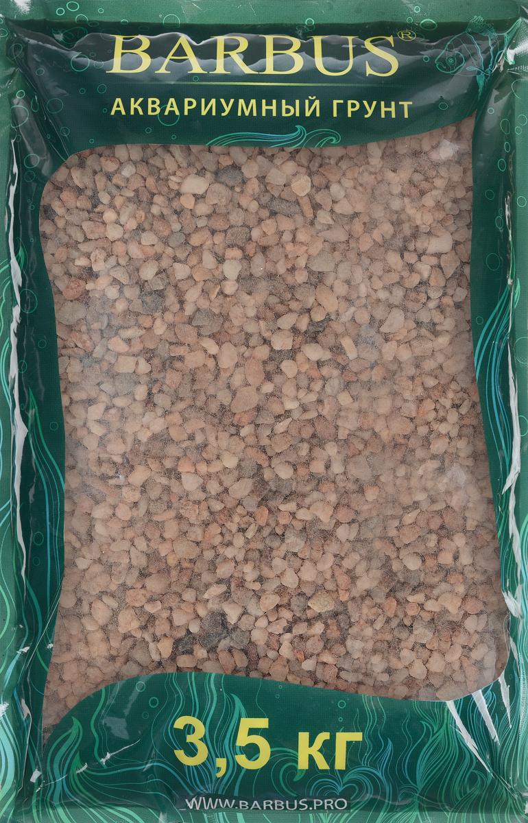 Грунт для аквариума Barbus Премиум натуральный кварц цвет розовый 4-8 мм 35 кг