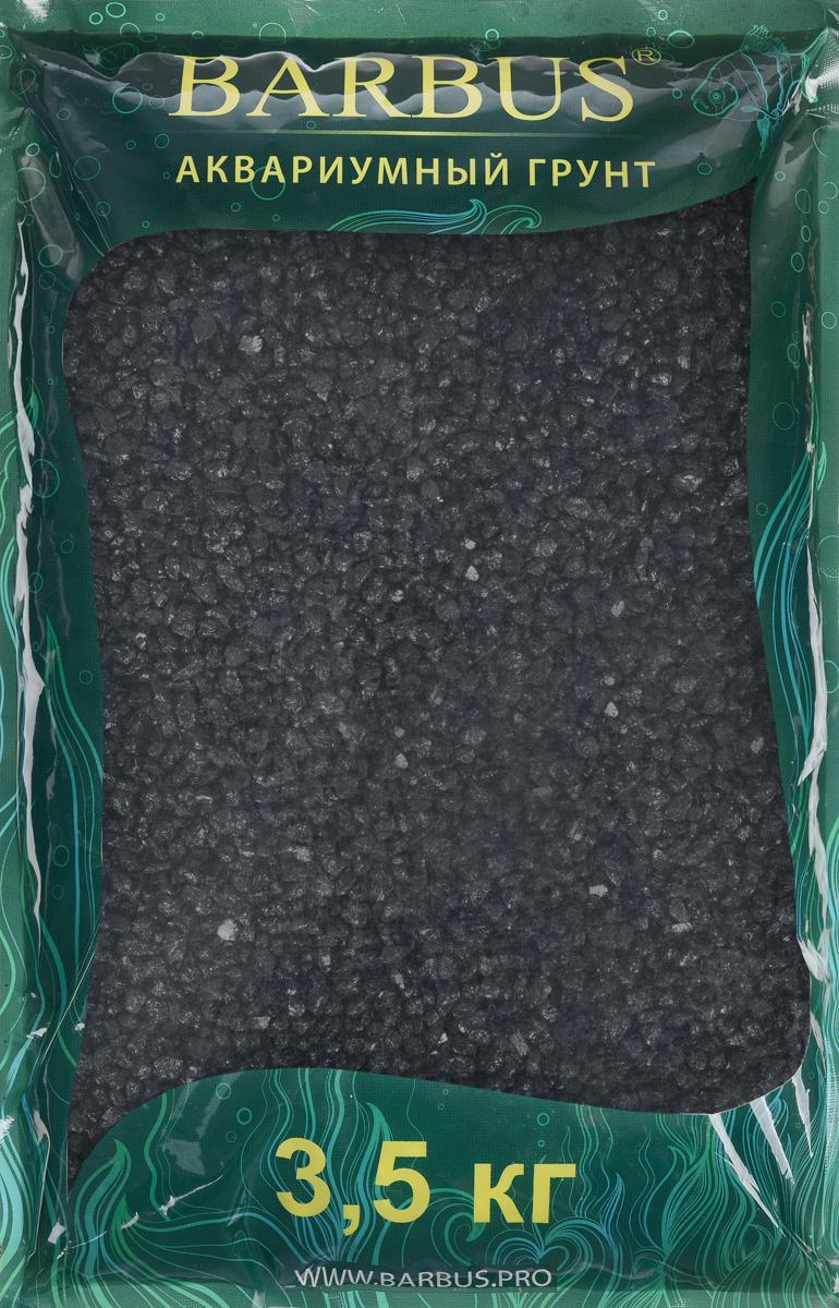 Грунт для аквариума Barbus, натуральный, каменная крошка, цвет: черный, 5-10 мм, 3,5 кг крошка мраморная окрашенная красная фракция 5 10 мм 10 кг