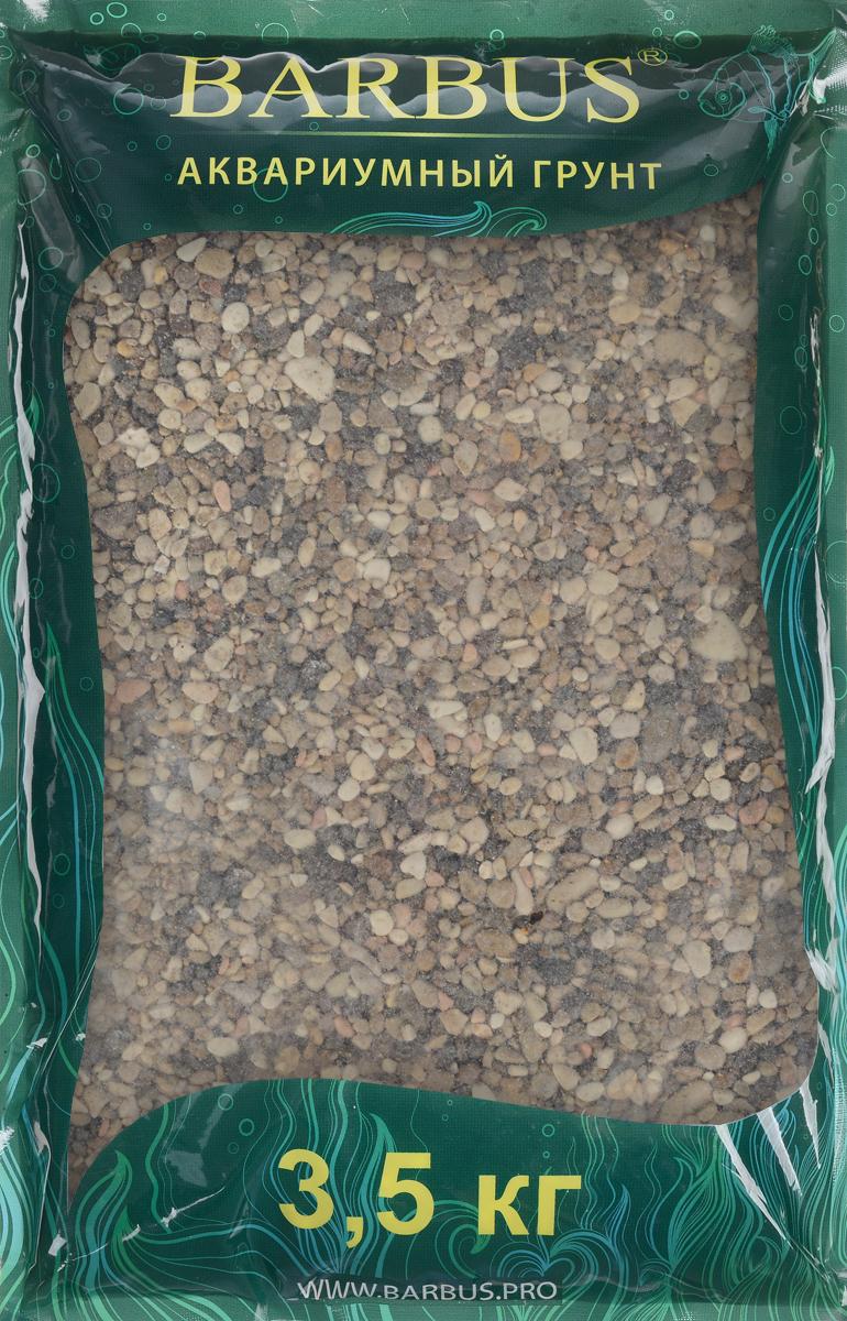Грунт для аквариума Barbus Пестрая №1, натуральный, галька, 1-3 мм, 3,5 кг галька морская бежевая фракция 5 10 мм 1 кг