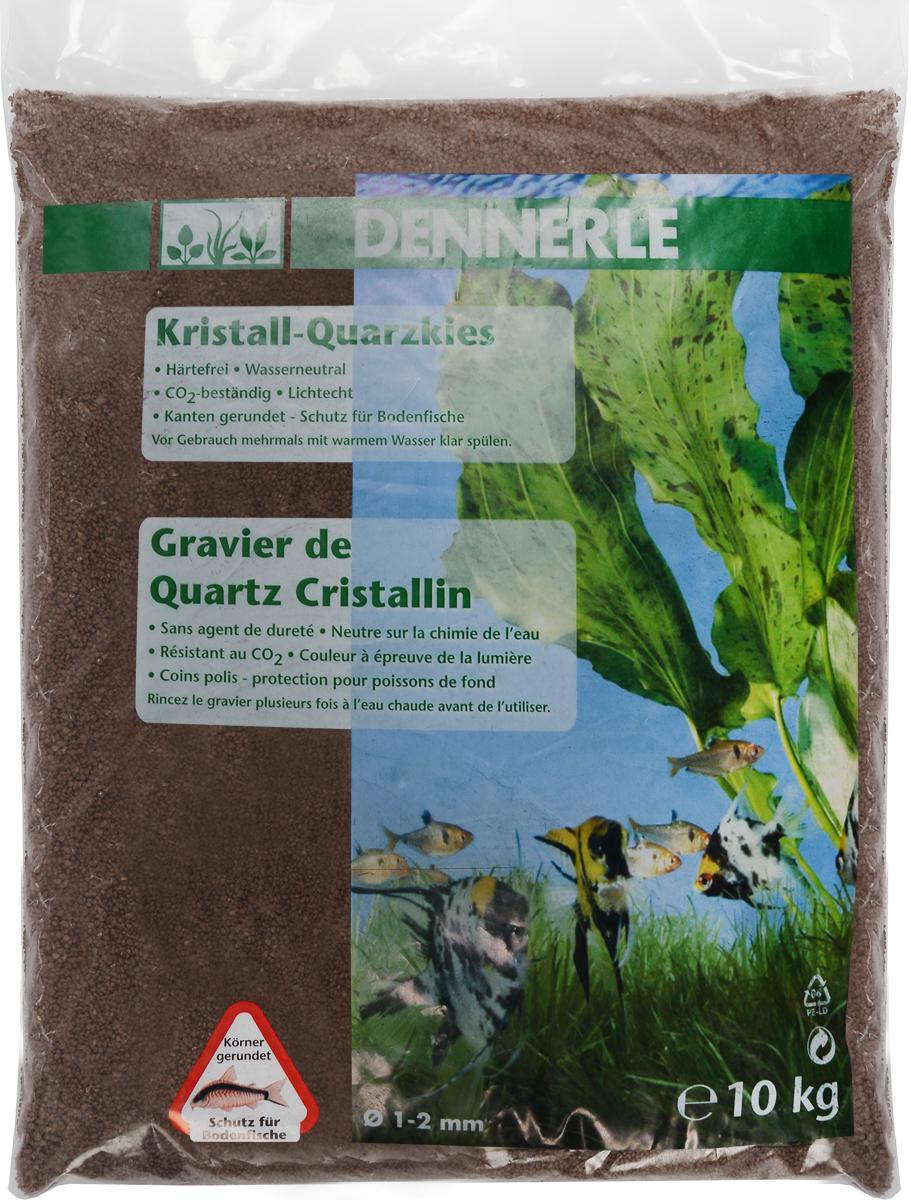 Грунт для аквариума Dennerle Kristall-Quarz, натуральный, цвет: светло-коричневый, 1-2 мм, 10 кг грунт для аквариума dennerle kristall quarz натуральный цвет темно коричневый 1 2 мм 5 кг