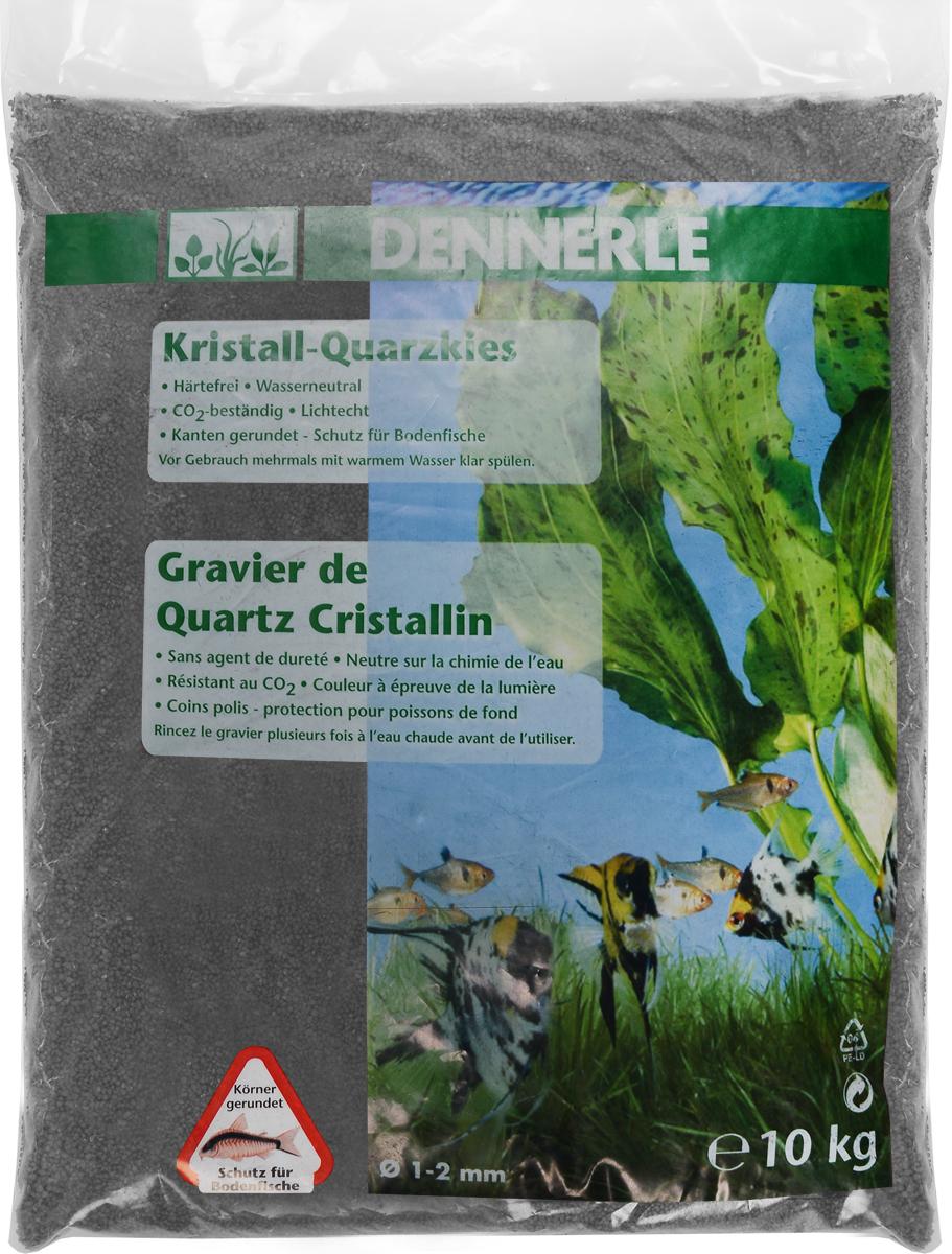 Грунт для аквариума Dennerle Kristall-Quarz, натуральный, цвет: темно-серый, 1-2 мм, 10 кгDEN1731Натуральный грунт Dennerle Kristall-Quarz предназначен специально для оформления аквариумов. Изделие готово к применению.Натуральный гравий имеет округлую форму зерна, поэтому он безопасен для донных рыб.Гравий является светостойким, он устойчив к CO2, нейтрален к воде..Грунт  Dennerle  порадует начинающих любителей природы и самых придирчивых дизайнеров, стремящихся к созданию нового, оригинального. Такая декорация придутся по вкусу и обитателям аквариумов и террариумов, которые ещё больше приблизятся к природной среде обитания.Фракция: 1-2 мм.Объем: 10 кг.