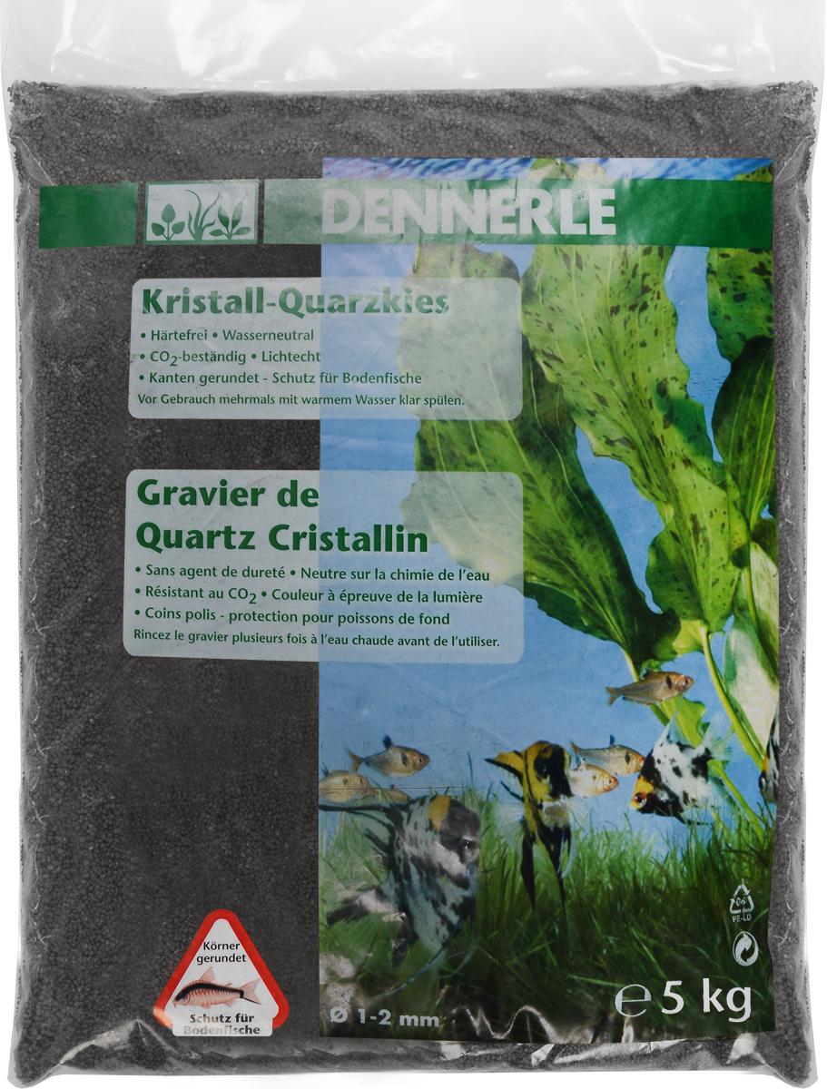 Грунт для аквариума Dennerle Kristall-Quarz, натуральный, цвет: черный, 1-2 мм, 5 кг галька реликтовая эко грунт для аквариумов 4 8 мм 3 5 кг