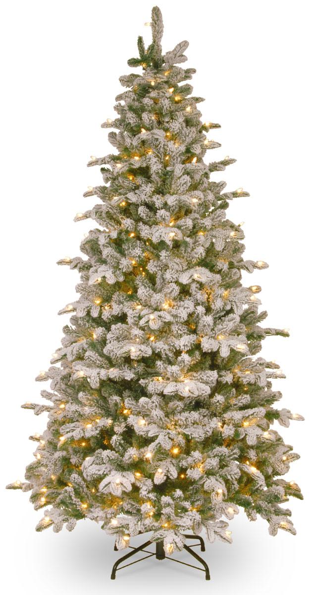 Ель искусственная National Tree Company Poly Snowy Everest, 300 ламп, высота 183 см ель данхилл высота 183 см цвет светло зеленый