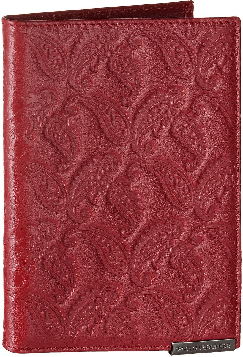Обложка для автодокументов женская Paolo Veronese Альба, цвет: красный. BV-6-NK012PV-NK012-BV0006-000Стильная обложка для автодокументов Paolo Veronese Альба изготовлена из натуральной кожи с тиснением. Лицевая сторона изделия оформлена небольшой металлической пластиной с гравировкой в виде названия бренда. Внутри изделия расположены два кармана из пластика, съемный блок для документов, включающий в себя шесть прозрачных файлов, один из которых формата А5. Изделие поставляется в фирменной упаковке. Обложка для автодокументов поможет сохранить внешний вид ваших документов и защитить их от повреждений, а также станет стильным аксессуаром.
