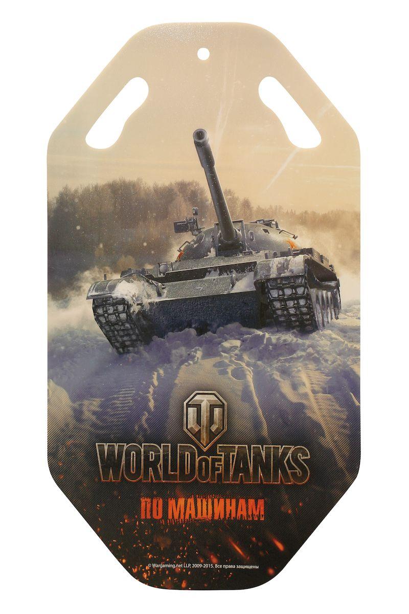 Ледянка World of Tanks, 92 смТ58180Ледянка World of Tanks предназначена для любителей зимних спортивных развлечений. Выполнена из ПВХ.На лицевой стороне имеется изображение с героями любимой игры. На ледянке имеются ручки-прорези для удобства маневрирования.