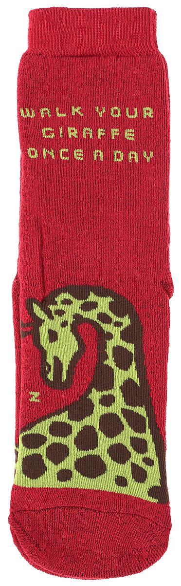 Носки женские Big Bang Socks Жираф, махровые, цвет: темно-красный. n323. Размер 35/39n323Махровые женские носки Big Bang Socks Жираф, изготовленные из высококачественного хлопка с добавлением полиамидных и эластановых волокон, согреют ваши ноги. Носки отличаются ярким стильным дизайном. Удобная резинка идеально облегает ногу и не пережимает сосуды.