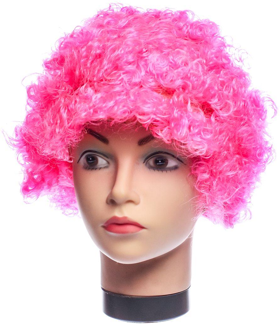 Rio Парик карнавальный цвет розовый 5058
