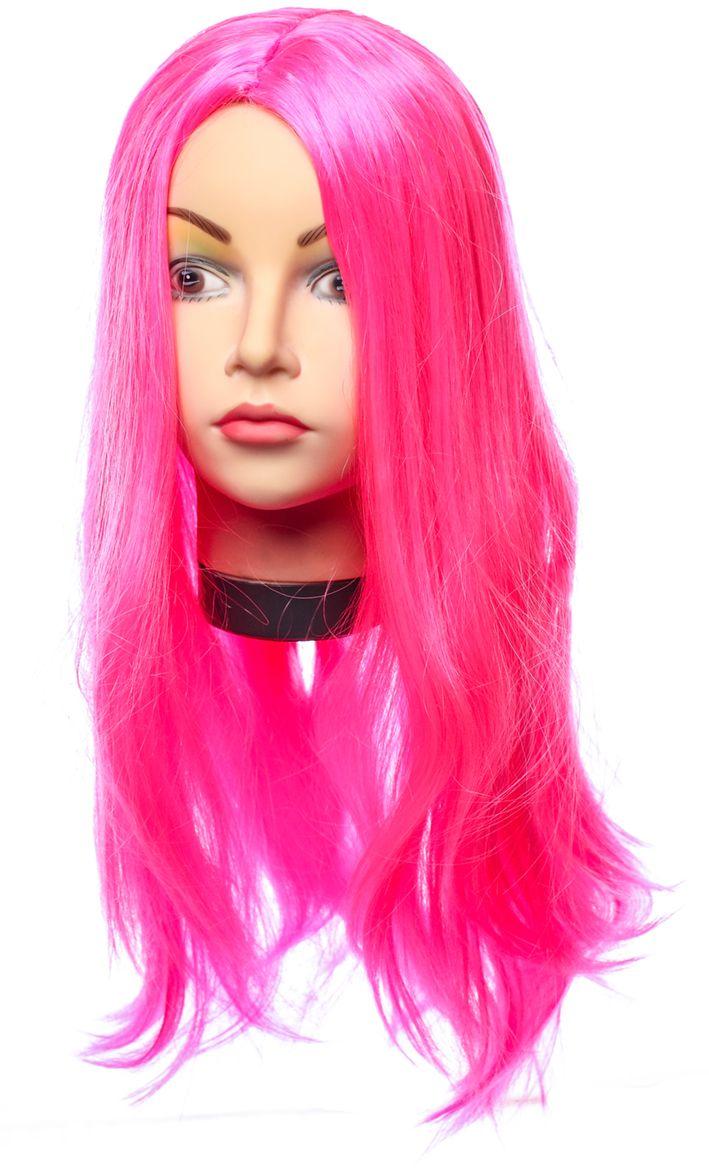 Rio Парик карнавальный цвет розовый 5126