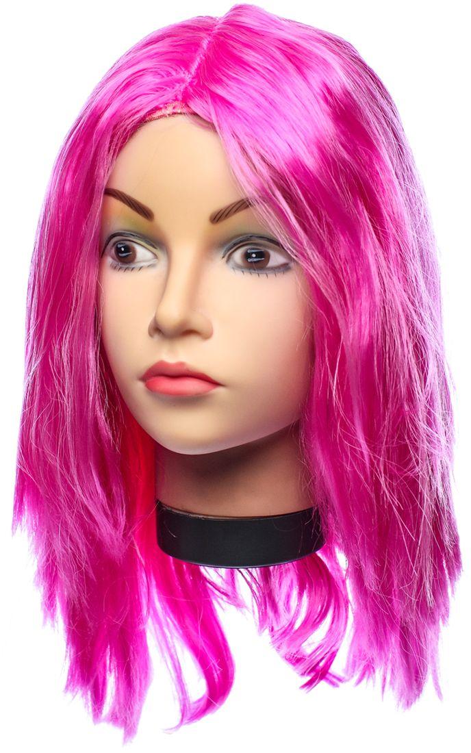 Rio Парик карнавальный цвет темно-розовый 5132