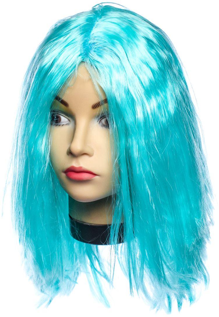 Rio Парик карнавальный цвет светло-голубой 5133 - Парики