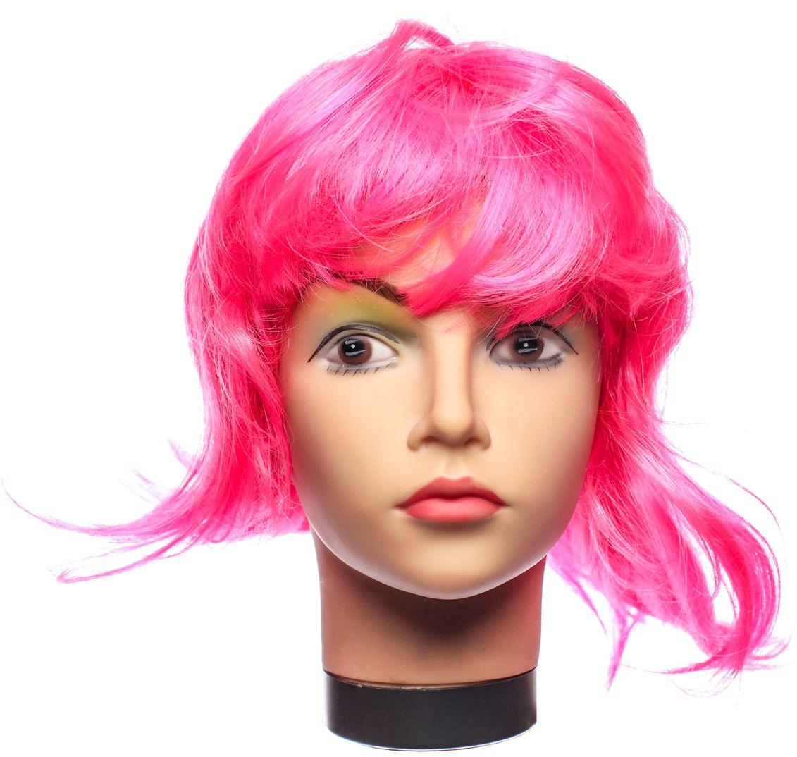 Rio Парик карнавальный цвет розовый 5332
