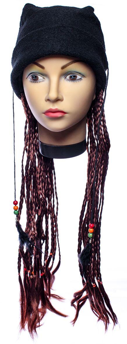 Rio Парик карнавальный цвет бордовый 5337 - Парики