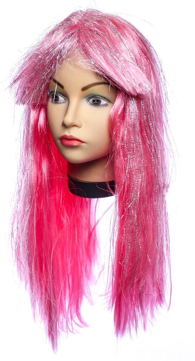Rio Парик карнавальный цвет темно-розовый 5381 - Парики