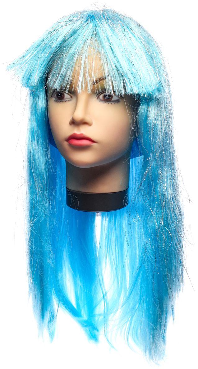 Rio Парик карнавальный цвет голубой 5382 - Парики