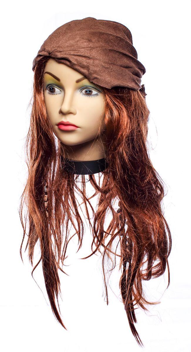 Rio Парик карнавальный цвет коричневый 5416 - Парики