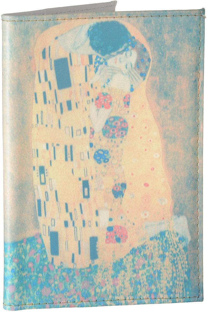 Обложка для автодокументов Mitya Veselkov Поцелуй Климта, цвет: голубой, бежевый, Арт. AUTO260AUTO260Стильная обложка для автодокументов Mitya Veselkov Поцелуй Климта изготовлена из натуральной кожи и оформлена интересным принтом.Внутри изделия расположены два прорезных кармана для пластиковых карт, два открытых кармана, съемный блок для документов, включающий в себя шесть прозрачных файлов. Обложка для автодокументов поможет сохранить внешний вид ваших документов и защитить их от повреждений, а также станет стильным аксессуаром.