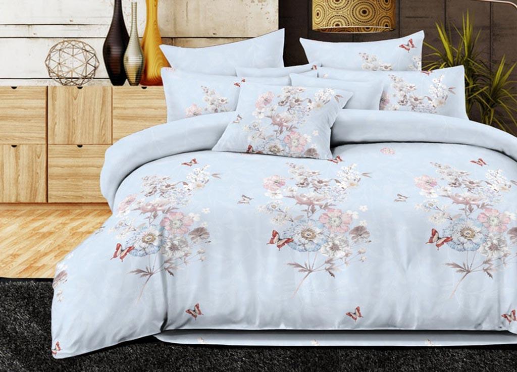 Комплект белья Primavera Classic Полевые цветы, 2-спальный, наволочки 70х70, цвет: голубой88782